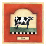 Barnyard 1 Cow Prints by Linda Grayson