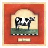 Barnyard 1 Cow Stampe di Linda Grayson