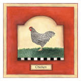 Barnyard 1 Chicken Posters by Linda Grayson