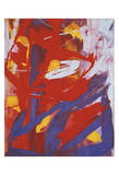 Abstract Painting, c. 1982 (Indigo, Red, White) Affiches par Andy Warhol