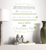 Silver Bells Quote Peel & Stick Metallic Wall Decals Wall Decal