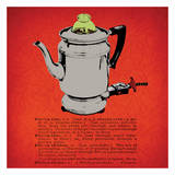 Retro Coffee Pot Art by Tina Carlson