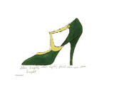 Shoe Bright, Shoe Light, First Shoe I've Seen Tonight, 1955 Print by Andy Warhol