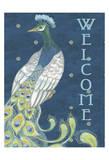Peacock Welcome Lámina por Nicole Tamarin