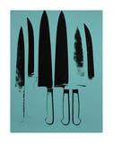 Knives, c. 1981-82 (Aqua) Plakater af Andy Warhol