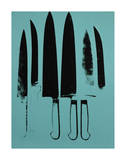 Knives, c. 1981-82 (Aqua) Prints by Andy Warhol