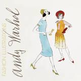 Andy Warhol - Two Female Fashion Figures, c. 1960 Obrazy