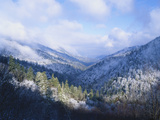 Winter View of Sugarlands Valley, Great Smoky Mountains National Park, Tennessee, USA Photographic Print by Adam Jones