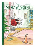 Ho-ho-HO! - The New Yorker Cover, December 13, 2010 Regular Giclee Print by George Booth