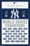 New York Yankees World Series Champions Plakater