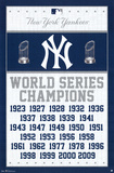 New York Yankees World Series Champions Posters