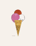 Ice Cream Dessert, c. 1959 (red, pink, and white) Poster di Andy Warhol