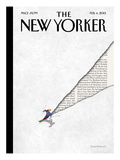 The New Yorker Cover - February 4, 2013 Premium Giclee Print by Birgit Sch&#246;ssow