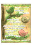 Birds Pink 3 Posters by Diane Stimson