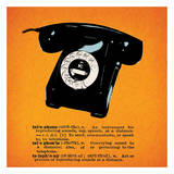 Retro Telephone Posters by Tina Carlson