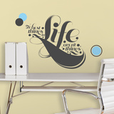 55 High - The Best Things in Life Peel &amp; Stick Giant Wall Decals Wall Decal