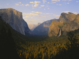 Yosemite Valley and Bridal Veil Falls, Yosemite National Park, California, USA Photographic Print by Adam Jones