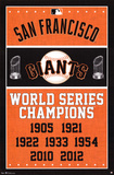 San Francisco Giants World Series Champions Poster