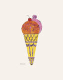 Andy Warhol - Ice Cream Dessert, c. 1959 (purple fancy) Reprodukce