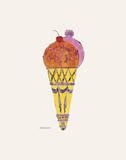 Cono gelato, ca. 1959 (viola) Arte di Andy Warhol