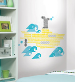 Beatles Yellow Submarine Lyrics Peel &amp; Stick Giant Wall Decals Wall Decal