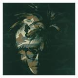 Andy Warhol - Self-Portrait, 1986 (Brown Camo) Digitálně vytištěná reprodukce