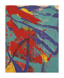 Abstract Painting, c. 1982 (Aqua, Red, Indigo, Yellow) Impressão giclée por Andy Warhol