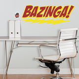 Big Bang Theory BAZINGA Peel &amp; Stick Giant Wall Decal Wall Decal