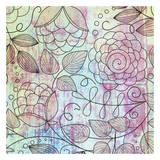 Shabby Floral Print by Kristin Emery