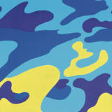 Camouflage, 1987 (Blue, Yellow) Print by Andy Warhol
