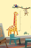 Jungle Adventure Giraffe Peel &amp; Stick Growth Chart Wall Decal Autocollant mural