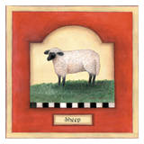 Barnyard 2 Sheep Art by Linda Grayson