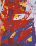 Abstract Painting, c. 1982 (Indigo, Red, White) Posters by Andy Warhol