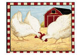 Chickens Poster by Carole Stevens