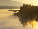 Float Plane on Beluga Lake at Dawn, Alaska, USA Photographic Print by Adam Jones