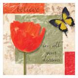 Believe Poppy Prints by Taylor Greene