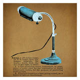 Retro Lamp Print by Tina Carlson
