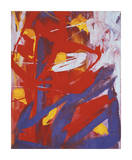 Abstract Painting, c. 1982 (Indigo, Red, White) Giclee Print by Andy Warhol