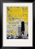 Chicago Neighborhoods Limited Edition Framed Print by M.J. Lew