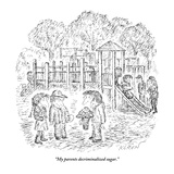 """My parents decriminalized sugar."" - New Yorker Cartoon Premium Giclee Print by Edward Koren"