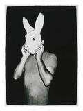 Man With Rabbit Mask, C. 1979 Giclée-Druck von Andy Warhol