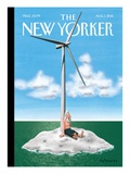 Forward Thinking - The New Yorker Cover, August 1, 2011 Premium Giclee Print by Ian Falconer