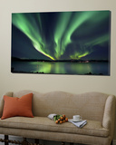 Aurora Borealis over Tjeldsundet in Troms County, Norway Posters by  Stocktrek Images