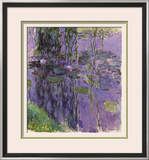 Nympheas, 1916-19 Framed Giclee Print by Claude Monet