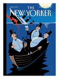 S.O.S. - The New Yorker Cover, August 15, 2011 Premium Giclee Print by Christoph Niemann