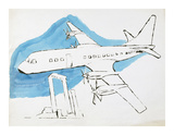 Airplane, C. 1959 Giclee Print by Andy Warhol