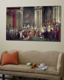 Consecration of the Emperor Napoleon and Coronation of Empress Josephine, 2nd December 1804, 1806-7 Posters av Jacques-Louis David