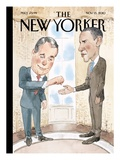 Bumped - The New Yorker Cover, November 15, 2010 Regular Giclee Print by Barry Blitt