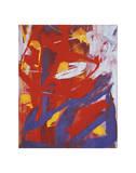Andy Warhol - Abstract Painting, c. 1982 (Indigo, Red, White) Digitálně vytištěná reprodukce