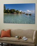 Anse Source d'Argent Beach, La Digue Island, Seychelles Plakater av Michele Falzone